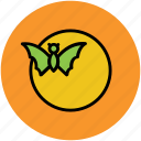 bat, dreadful, evil bat, flying bat, ghost bat, halloween bat icon