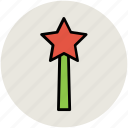 halloween wand, magic stick, magic wand, magician wand icon
