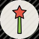 halloween wand, magic stick, magic wand, magician wand icon