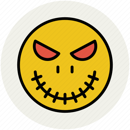 demon face, devil face, ghost, halloween denture fangs, halloween face icon
