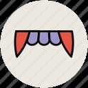 demon mouth, devil teeth, halloween denture fangs, halloween teeth, vampire teeth icon