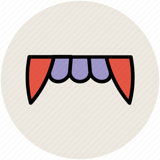 demon mouth, devil teeth, halloween denture fangs, halloween teeth, vampire teeth icon