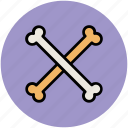 animal bones, cross bones, dog bones, dog meal, halloween bones icon