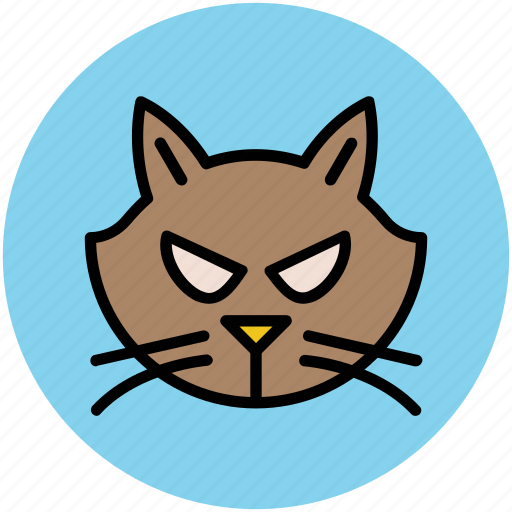 animal, cat, cat face, evil cat, feline cat, halloween cat icon