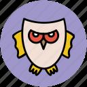 animal, bird, halloween owl, nocturnal, nocturnal animal, owl icon