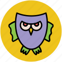animal, bird, halloween owl, owl, wild owl icon