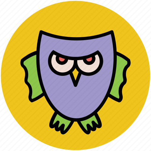 animal, bird, halloween owl, owl, wild owl icon