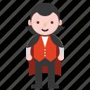 avatar, character, costume, dracula, halloween, vampire icon