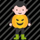 avatar, character, costume, halloween, pumpkin icon