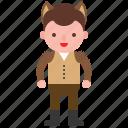 avatar, character, costume, halloween, werewolf icon