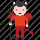 avatar, character, costume, devil, halloween icon