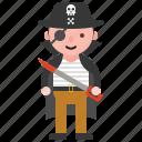 avatar, character, costume, halloween, pirate icon