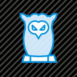 bird, fly, halloween, owl icon