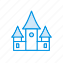 building, castle, estate, house icon