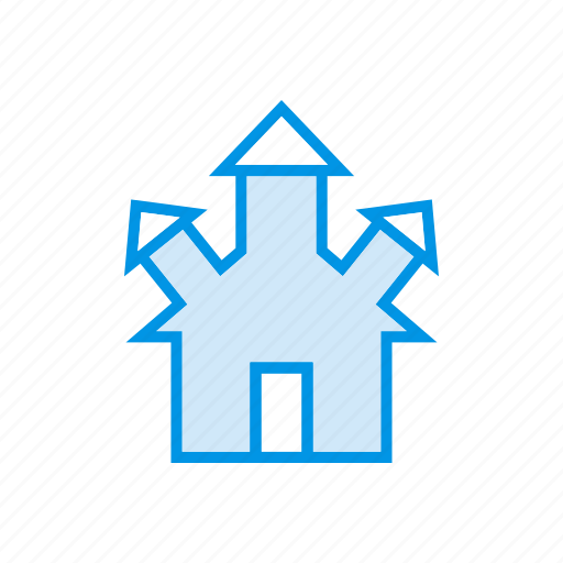 building, castle, estate, real icon