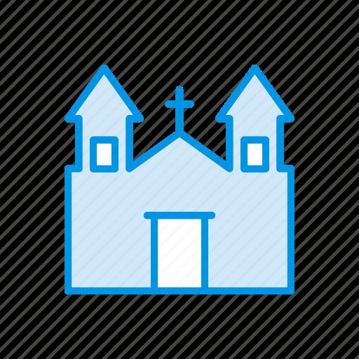 building, castle, church, estate icon