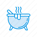 cauldron, cook, halloween, stove icon