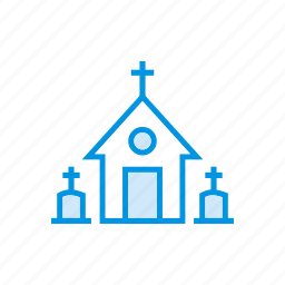 building, castle, catholic, church icon