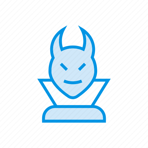 clown, devil, ghost, jester icon
