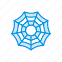 cobweb, halloween, insect, spider icon