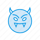 clown, creepy, devil, ghost icon