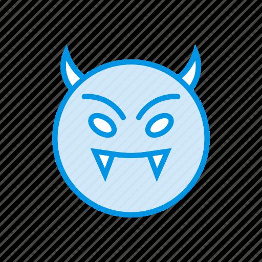 clown, creepy, devil, ghost icon