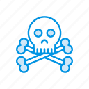 danger, scary, skull, spooky icon