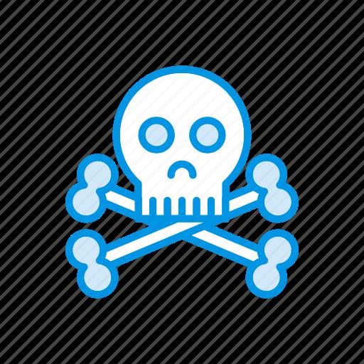 danger, scary, skull, spooky icon