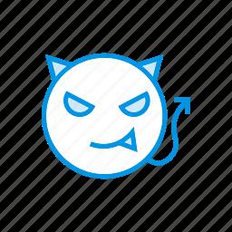 creepy, devil, halloween, vampire icon