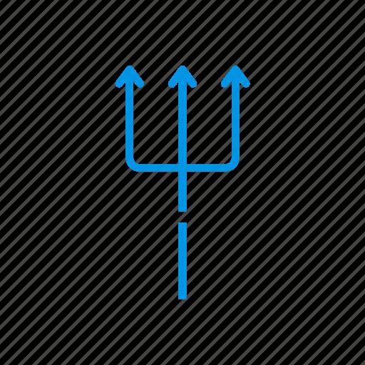 grim, reaper, scythe, trident icon