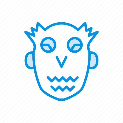 creepy, ghost, halloween, skull icon