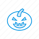 clown, creepy, halloween, pumpkin icon