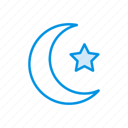 moon, night, star, weather icon