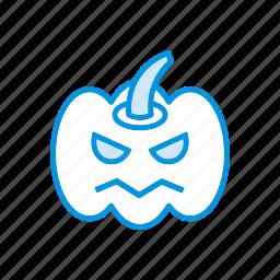 clown, halloween, pumpkin, scary icon