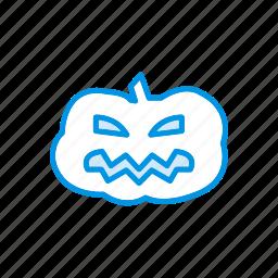 halloween, pumpkin, skull, spooky icon