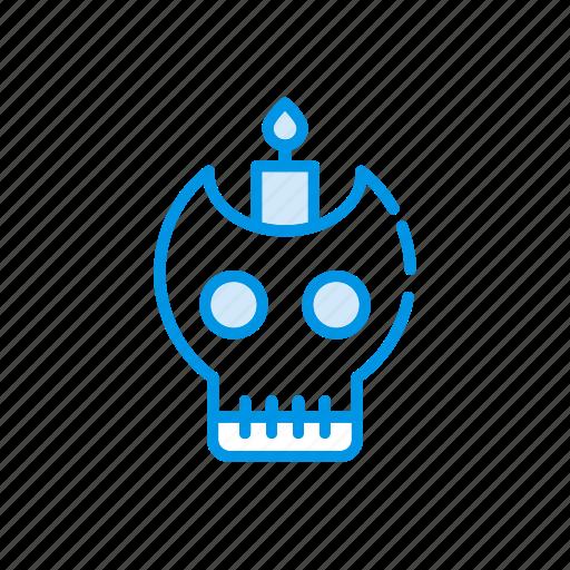 danger, scary, skeleton, skull icon