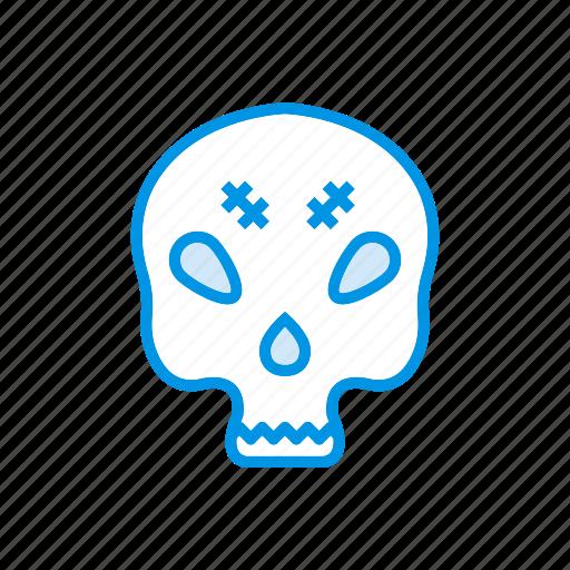 creepy, mummy, skull, spooky icon