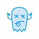 halloween, jester, scary, zombie icon