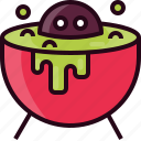 cauldron, halloween, pot, witch