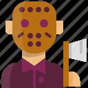 halloween, horror, jason, mask icon