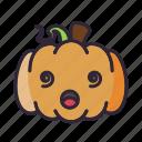 dizzy, halloween, lantern, pumpkin icon
