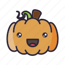 glad, halloween, kawaii, lantern, pumpkin icon