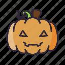 glad, halloween, lantern, pumpkin, smile icon