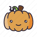 halloween, happy, kawaii, lantern, pumpkin icon