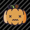 halloween, ill, lantern, pumpkin, sick icon