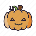 halloween, kawaii, lantern, pumpkin icon