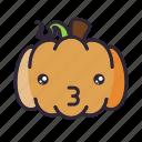 halloween, kiss, lantern, pumpkin icon