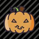halloween, lantern, pumpkin, sick icon