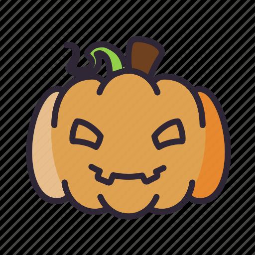 halloween, lantern, pumpkin, smile icon