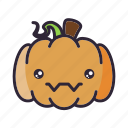 halloween, lantern, pumpkin, stare icon
